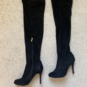 Over the knee black boot Size 8.5